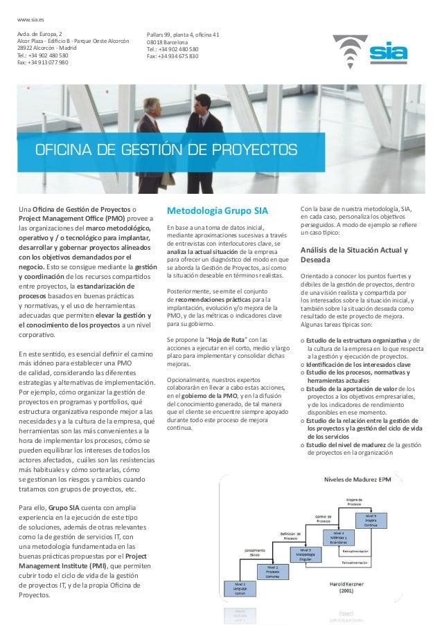 Una Oficina de Gestión de Proyectos o Project Management Office (PMO) provee a las organizaciones del marco metodológico, ...