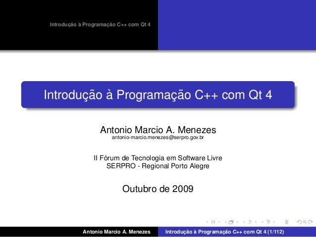 ¸˜ `          ¸˜ Introducao a Programacao C++ com Qt 4       ¸˜ `          ¸˜Introducao a Programacao C++ com Qt 4        ...