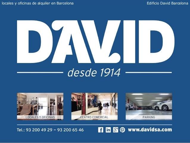 Oficinas alquiler barcelona edificio david for Oficina correus barcelona