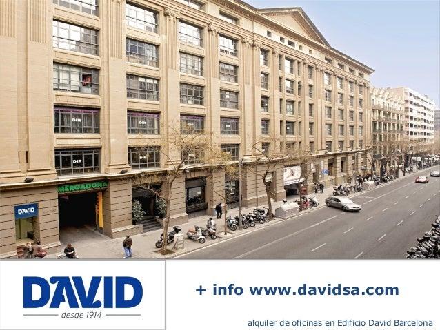 Oficinas alquiler barcelona edificio david - Oficina central de correos barcelona ...