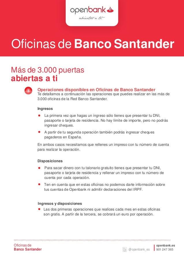 Gesti n en oficinas santander for Oficina 1500 banco santander