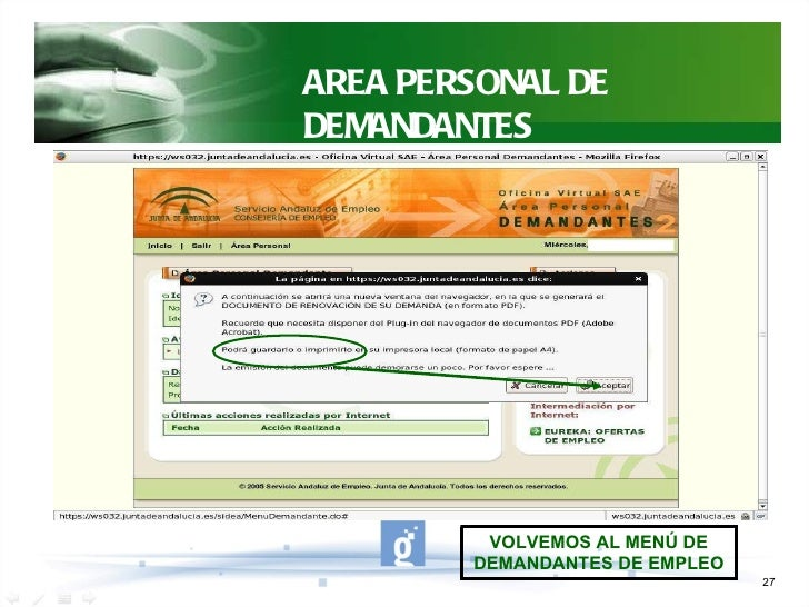 Oficina virtual de empleo sae for Sellar paro oficina virtual