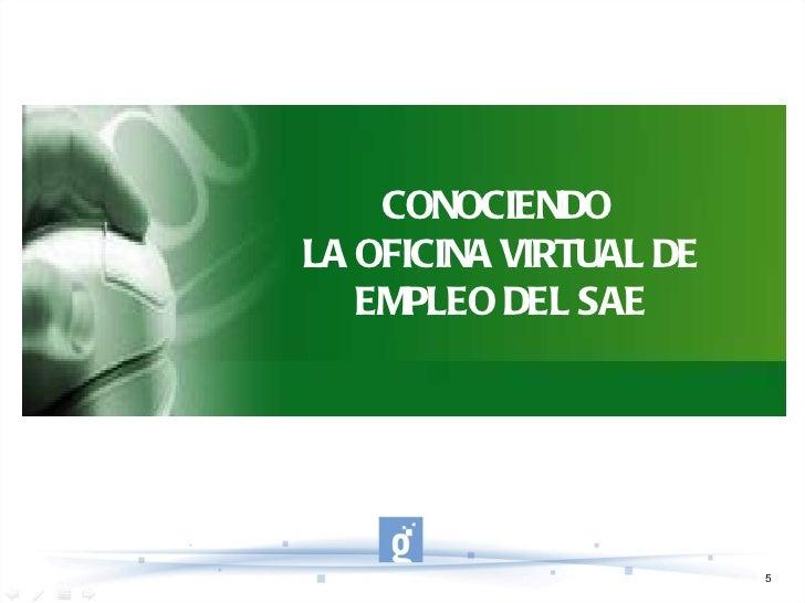 Oficina virtual de empleo sae for Servicio de empleo