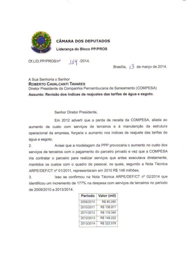 Oficio 144 2014-revisao de indices_agua_esgoto_ compesa