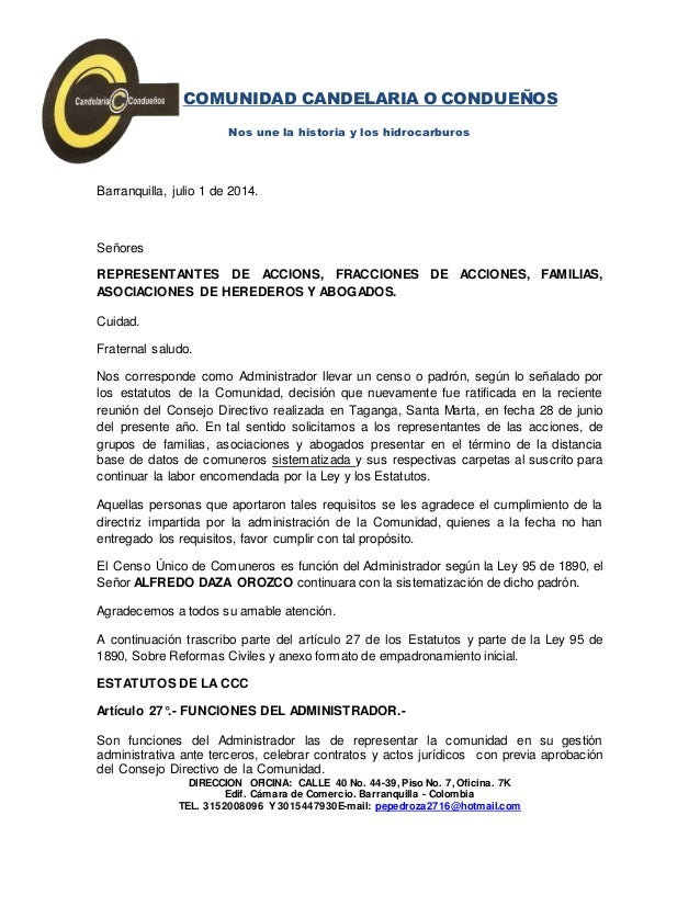 Oficio Administrador 0001 1072014 BASES INICIALES PARA DEFINIR EL CE…