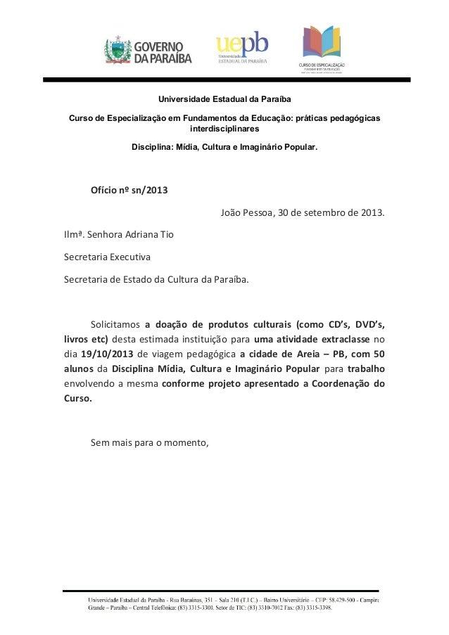 Universidade Estadual da Paraíba  Curso de Especialização em Fundamentos da Educação: práticas pedagógicas  interdisciplin...