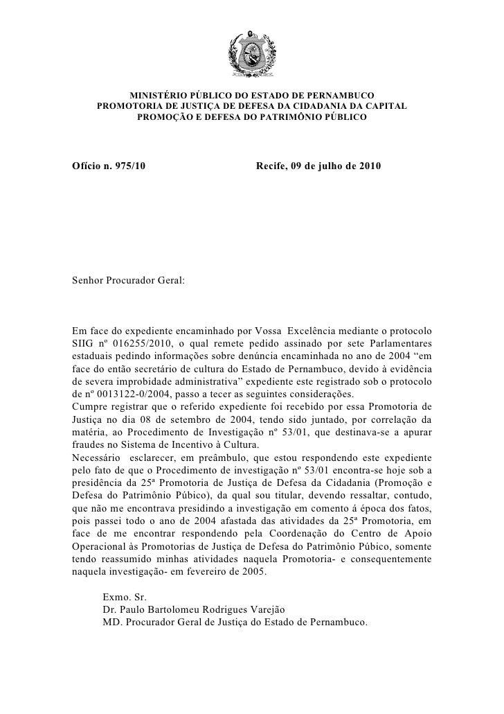 MINISTÉRIO PÚBLICO DO ESTADO DE PERNAMBUCO      PROMOTORIA DE JUSTIÇA DE DEFESA DA CIDADANIA DA CAPITAL            PROMOÇÃ...