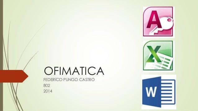 OFIMATICA  FEDERICO PUNGO CASTRO  802  2014