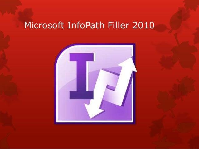 Microsoft InfoPath Filler 2010