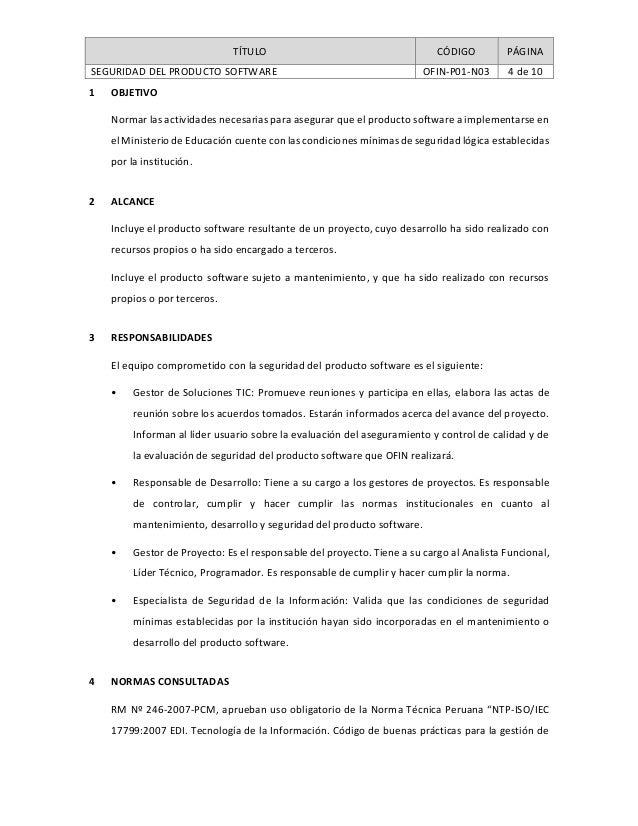 Ofin prroceso verificaci n de la calidad y seguridad del for Pagina de ministerio de seguridad