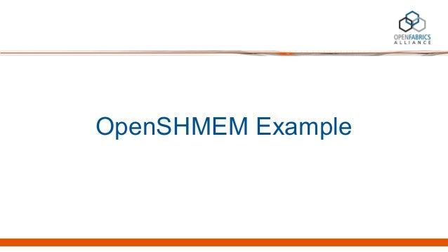 OpenSHMEM Example
