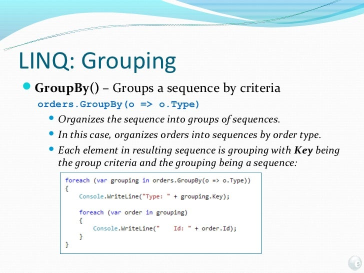 Of Lambdas and LINQ