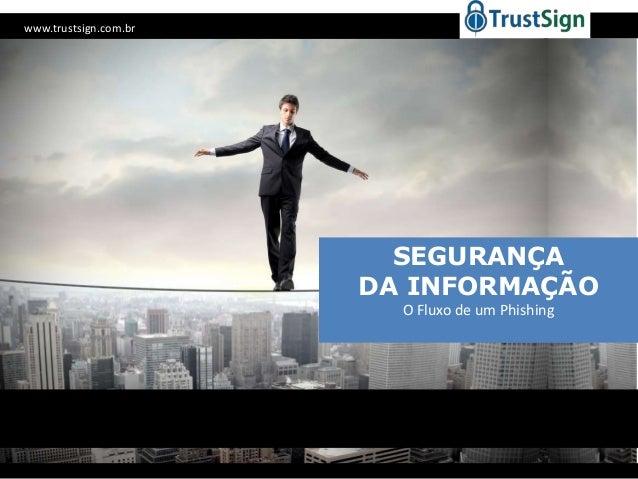 www.trustsign.com.br  SEGURANÇA DA INFORMAÇÃO O Fluxo de um Phishing