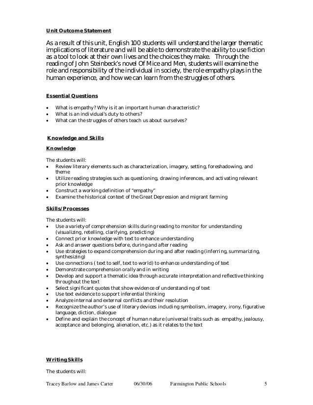 Of Mice And Men   Thesis Statement Essay Example also Sample English Essay  Business Communication Essay