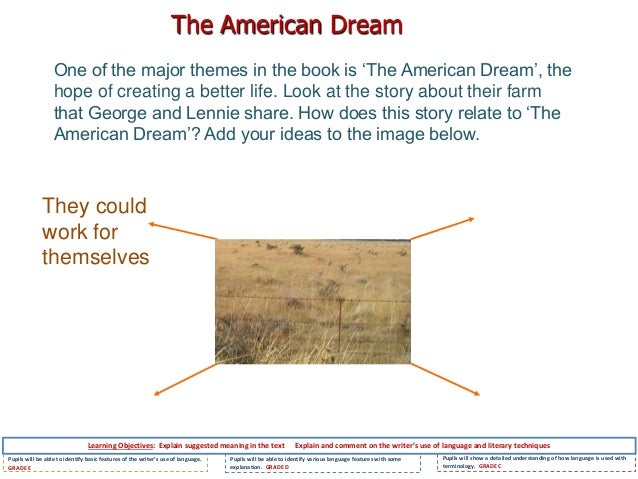 crooks dream mice men essay This is a good example essay about of mice and men by john steinbeck free sample research paper on of mice and men for students learn also how to write an essay on.