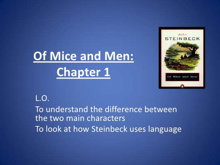 who are the two main characters in mice and men