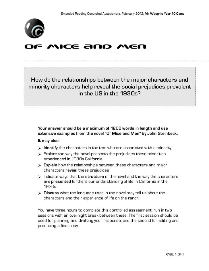 of mice and men empathy task A selection of critical opinions on 'of mice and men' for students read more 3  teachers  this quick and fun task is useful following a first reading of read  more 1 teacher  empathetic activity & revision of chapters 1 and 2 could also .