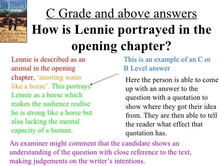 curleys wife peal paragraph Of mice and men model paragraphs with grade descriptors and annotation for   answering a question on steinbeck's presentation of curley's wife at levels from .