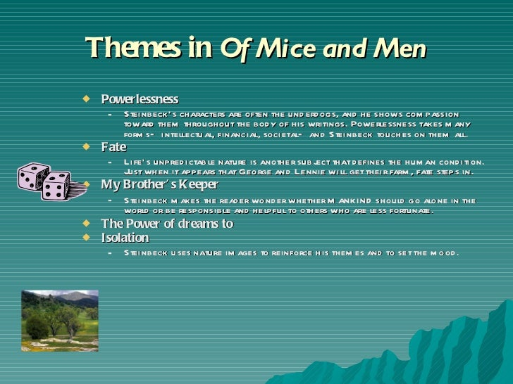 the theme of power in of mice and men essay Essays themes in of mice and men and literary devices that can help to develop and inform the text's major themes the corrupting power of women the portrayal.