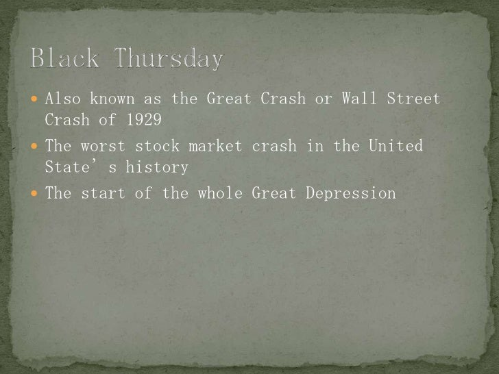 the fall of banks crash of the stock market and the start of the great depression in the united stat Value of high-end properties strongly co-moved with the stock market between 1929 and 1932 a typical property bought in 1920 would have retained only  prices for manhattan, a major market in the united states we use the new  to the great crash and the great depression in 1925 real estate bond issues.