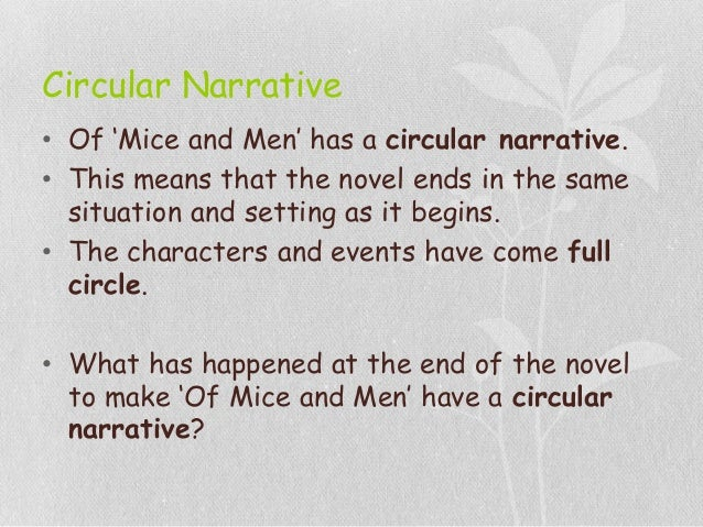 of mice and men narrative essay Of mice and men essays are academic essays for citation these papers were written primarily by students and provide critical analysis of of mice and men by john.