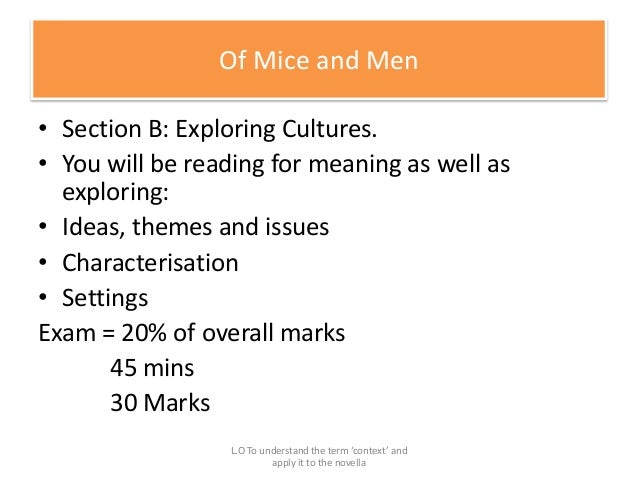 Of Mice and Men Study Guide from LitCharts | The creators of