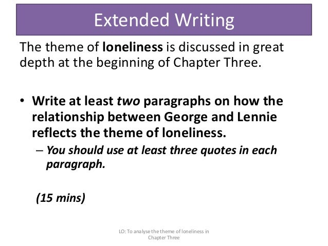 of mice and men literature exam  of loneliness in chapter three 52