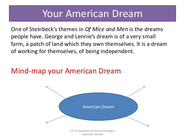 the illusion of the american dream in of mice and men a novel by john steinbeck The grapes of wrath is a novel by john steinbeck that  grapes of wrath and of mice and men:  fitzgerald's criticism of the american dream the.