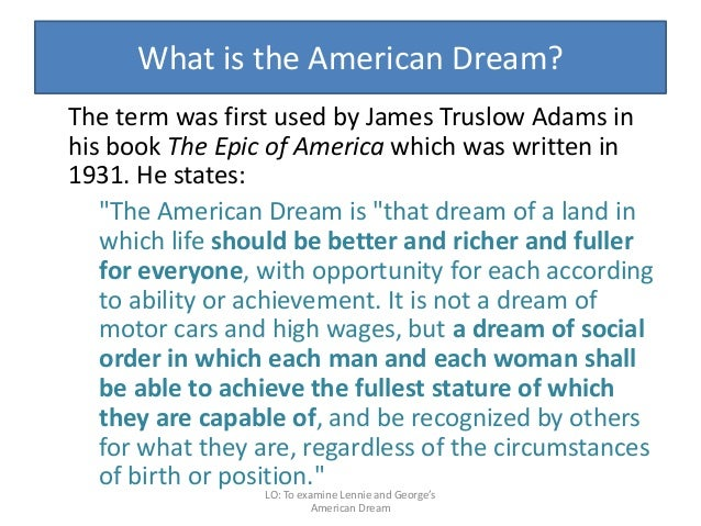 of mice and men literature exam george s american dream 64 what is the