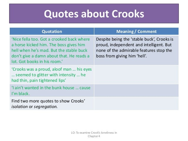 of mice and men crooks essay quotes