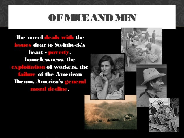 Cases on injustice in the novel of mice and men by john steinbeck