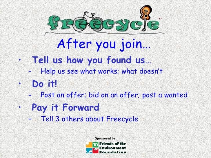 After you join… <ul><li>Tell us how you found us… </li></ul><ul><ul><li>Help us see what works; what doesn't </li></ul></u...