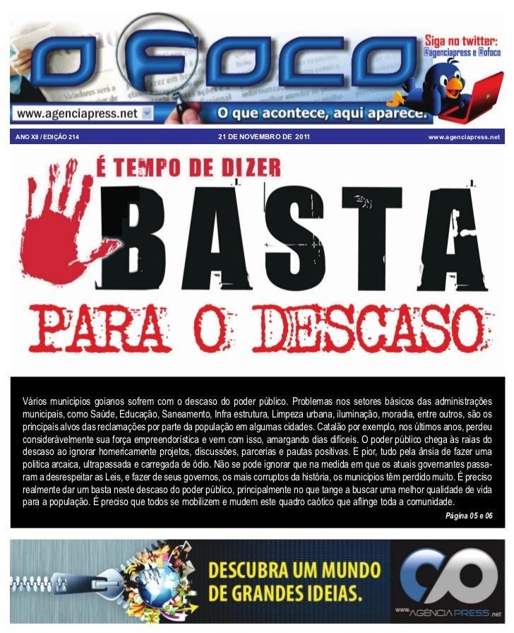 ANO XII / EDIÇÃO 214                                  21 DE NOVEMBRO DE 2011                                   www.agencia...