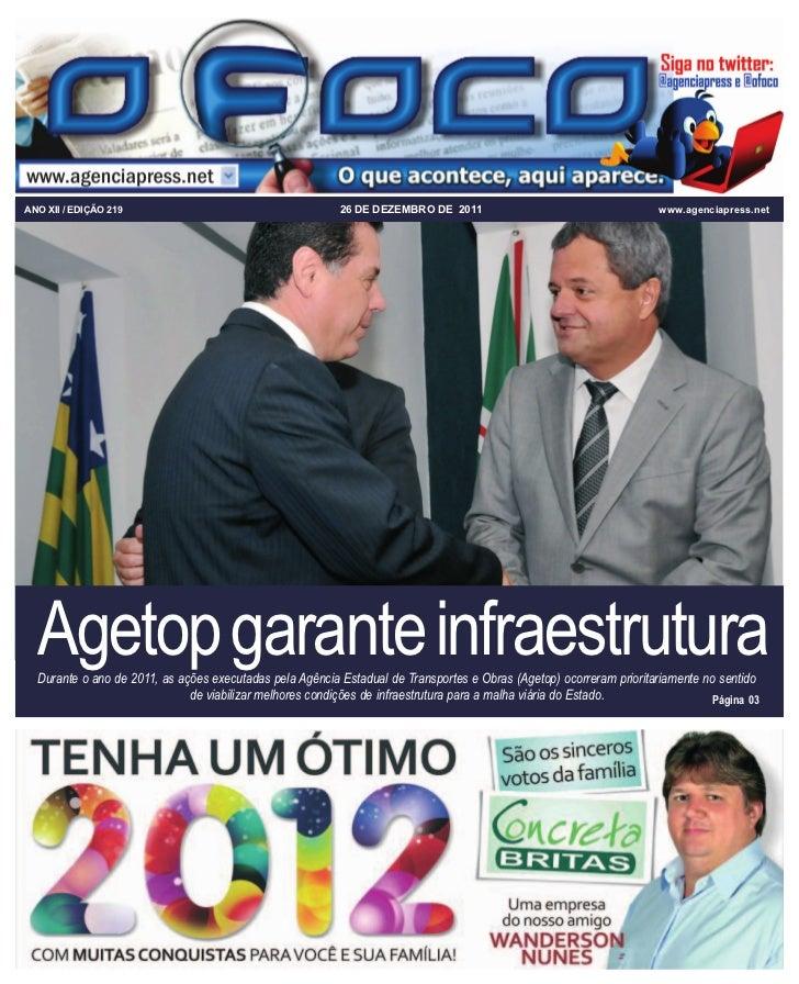 ANO XII / EDIÇÃO 219                                      26 DE DEZEMBRO DE 2011                                     www.a...