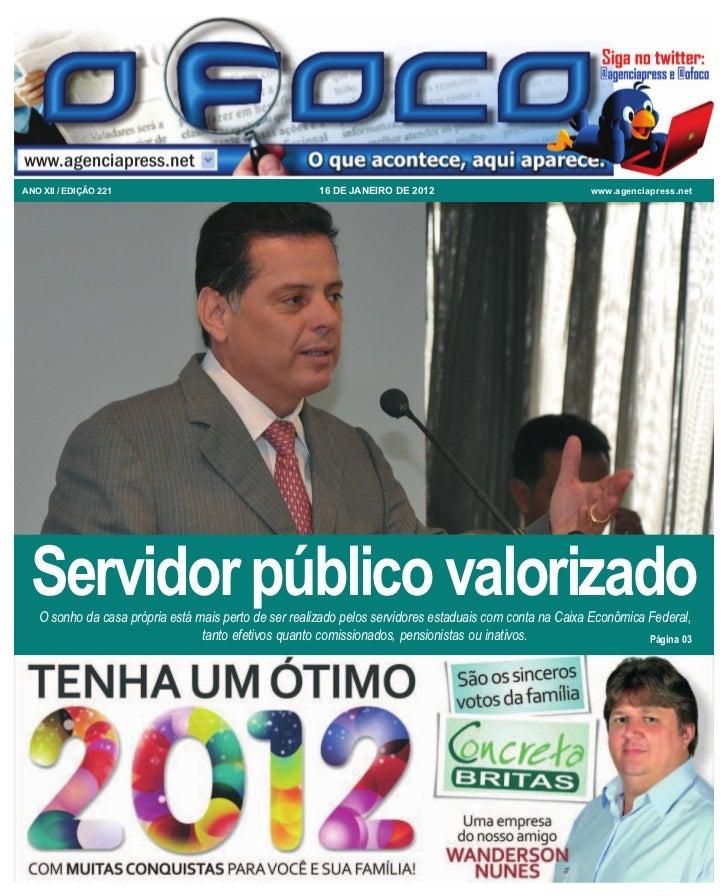 ANO XII / EDIÇÃO 221                                   16 DE JANEIRO DE 2012                              www.agenciapress...