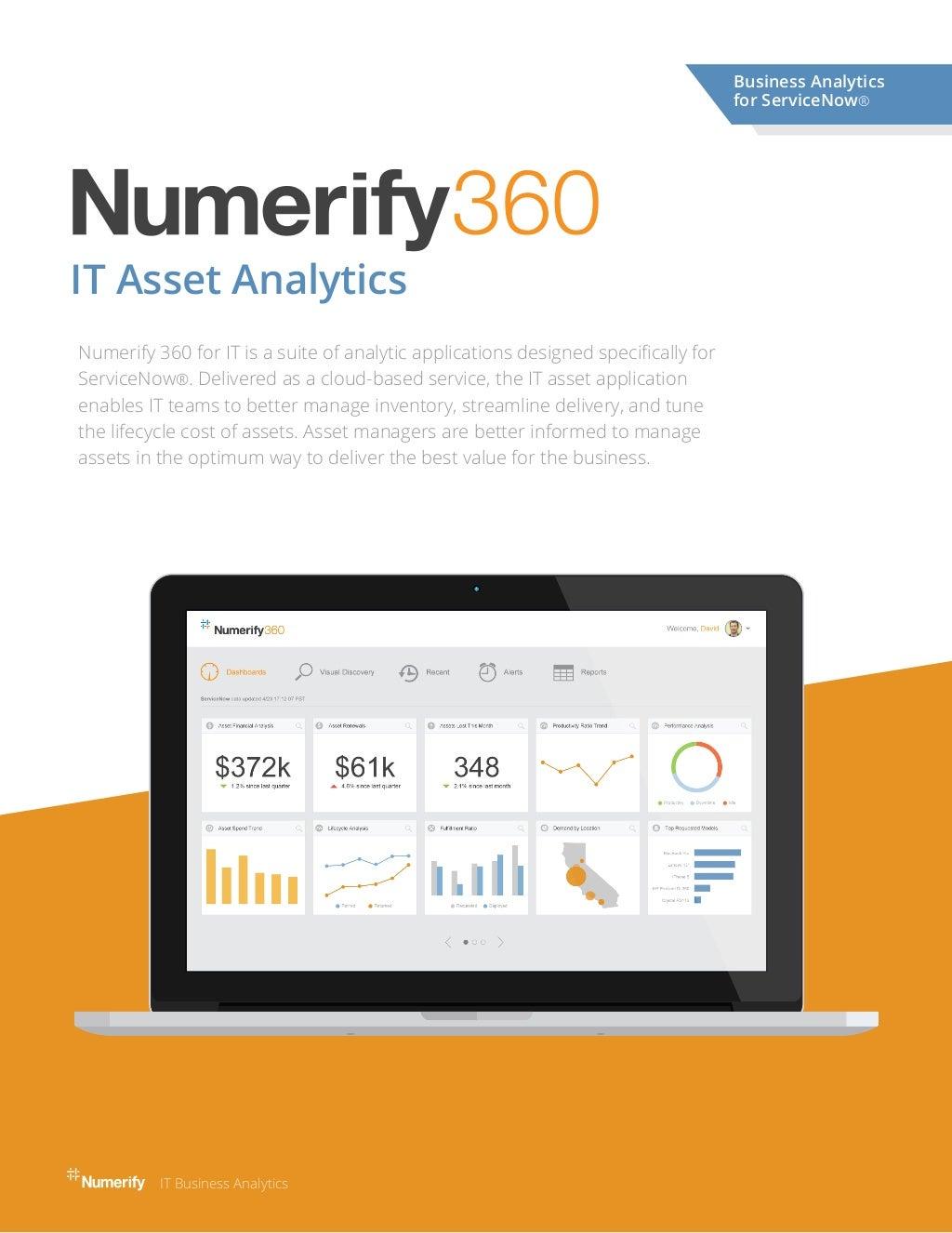 Numerify IT Asset Analytics for ServiceNow
