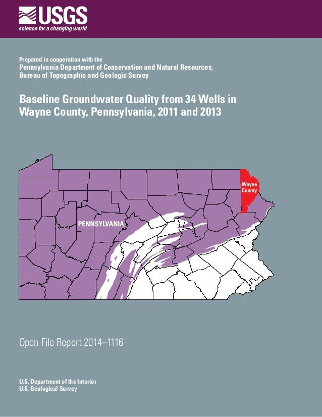 U.S. Department of the Interior U.S. Geological Survey Open-File Report 2014–1116 Prepared in cooperation with the Pennsyl...