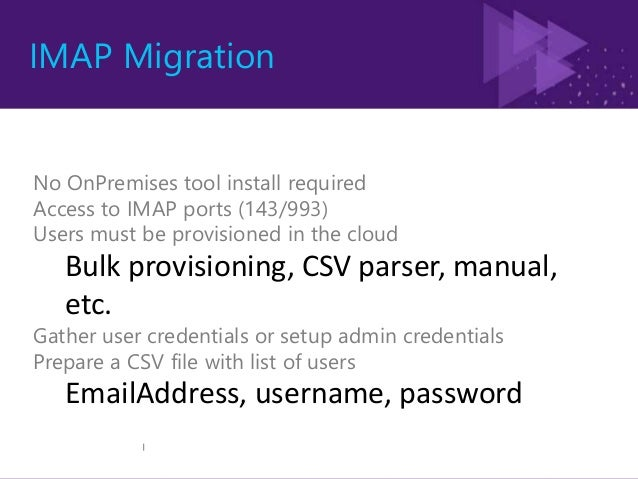 Scope •Partial migrations •DDL or Security Groups •System mailboxes. •MailboxGUIDs preservation •Config on sync interval •...