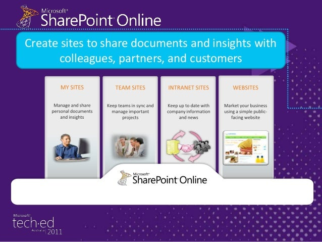 Administration • • • SharePoint Online Administration Center •Enable sites to share with external users •Manage site colle...