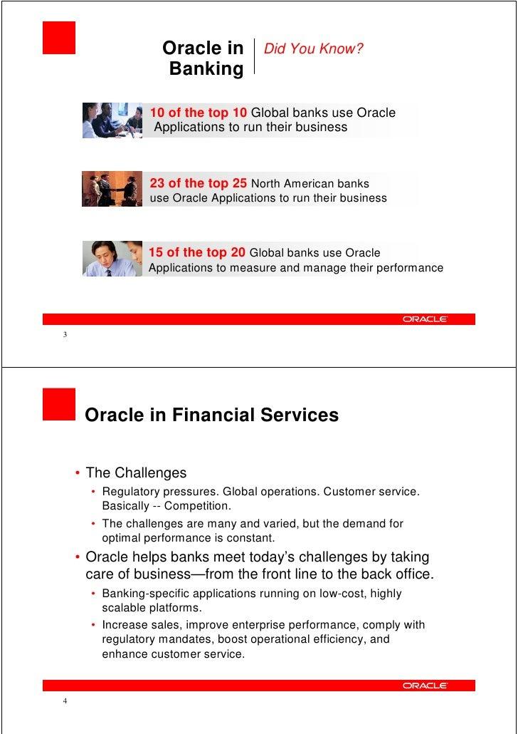 Oracle Financial Services - Latest Offerings Brief - Vietnam Cust Appreciation Event (Mar 2010) Slide 2