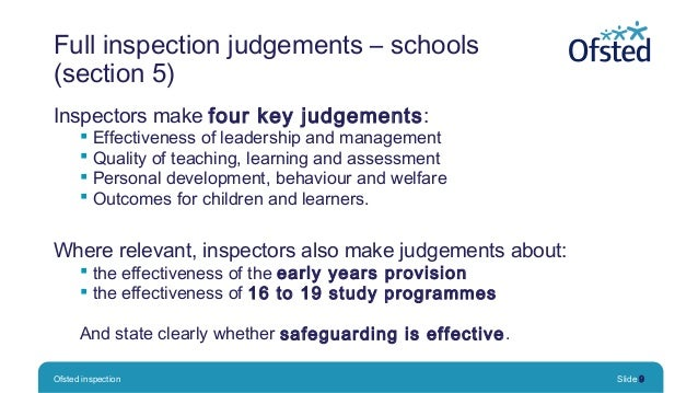 Ofsted inspection: Putting learning first conference ...