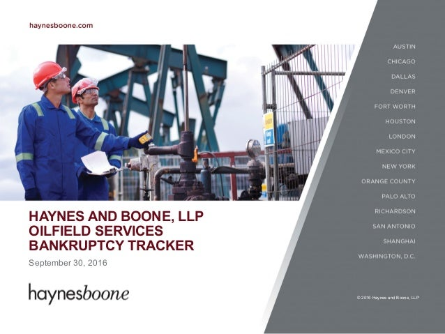 Haynes and Boone Oilfield Services Bankruptcy Tracker