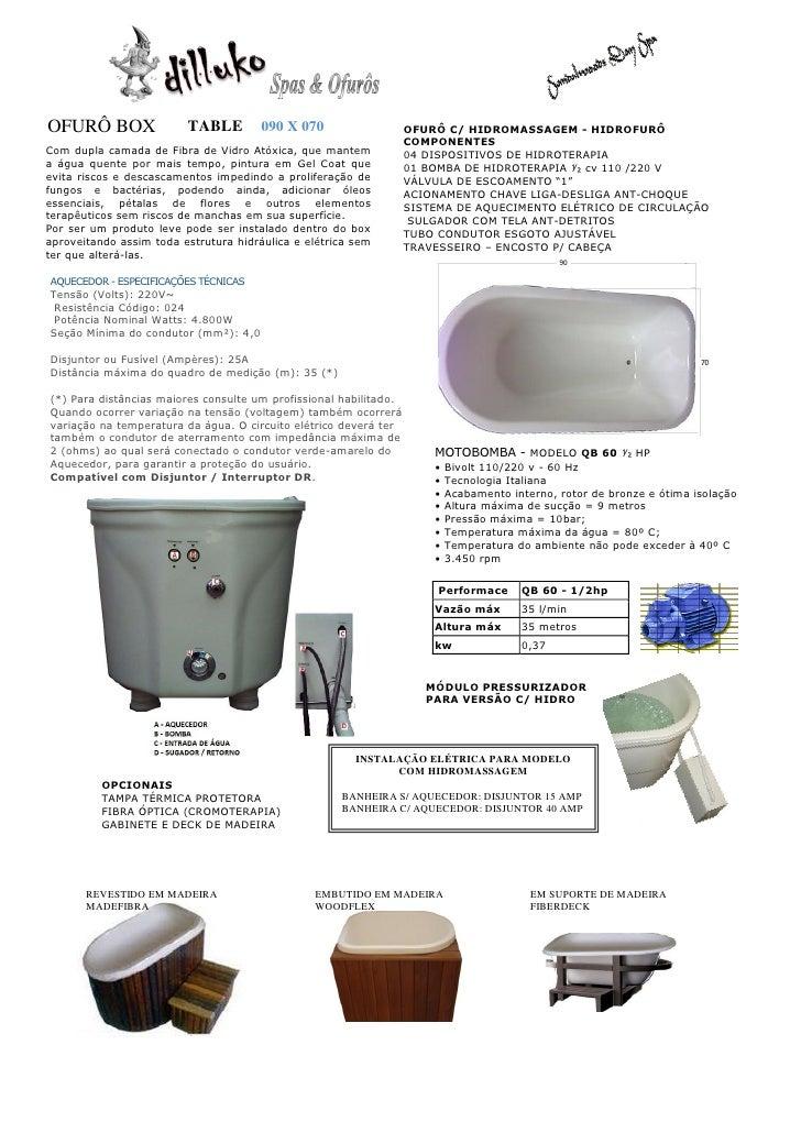 OFURÔ BOX                TABLE         090 X 070                   OFURÔ C/ HIDROMASSAGEM - HIDROFURÔ                     ...