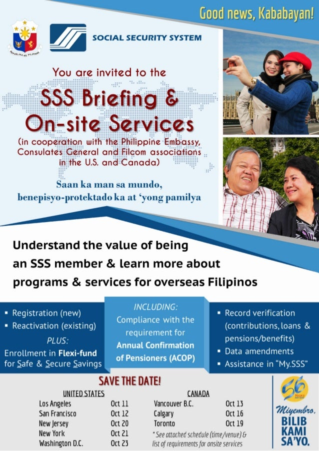 SSS Briefing and On site Services for OFWs