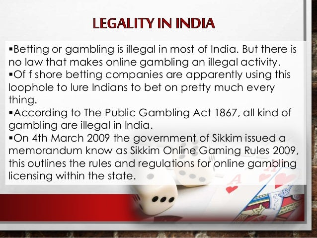 Gambling act 2005 india