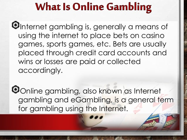 Types of internet gambling gambling addiction debt