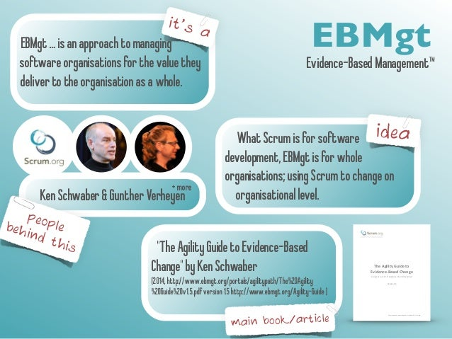 EBMgt … is an approach to managing EBMgt  software organisations for the value they  deliver to the organisation as a whol...