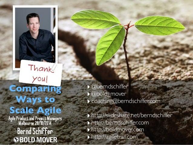 ‣@berndschiffer  ‣@bold_mover  ‣ coaching@berndschiffer.com  ‣ http://slideshare.net/berndschiffer  ‣ http://berndschiffer...
