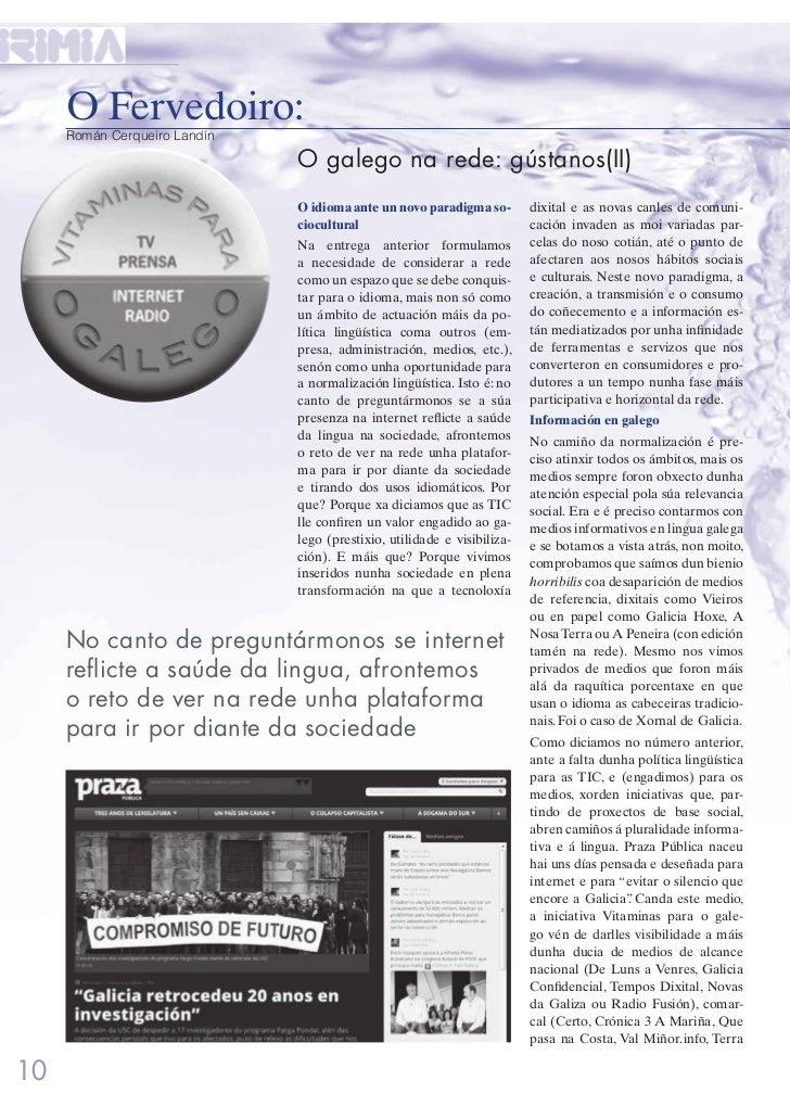 O Fervedoiro:     Román Cerqueiro Landín                              O galego na rede: gústanos(II)                      ...