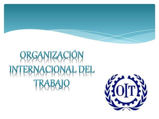 Organizaci n internacional del trabajo oit for Oficina nacional de fiscalidad internacional